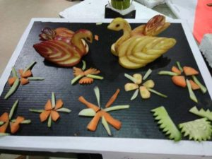 FRUIT CARVING COMPETITION @ Maac Kolkata