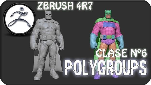 Polygroups In ZBrush @Animation Kolkata