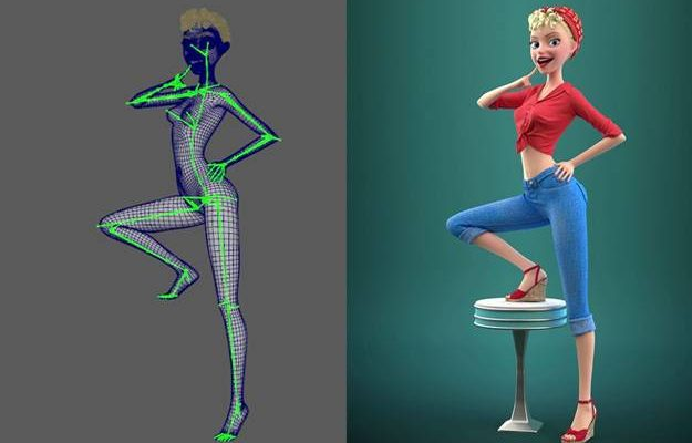 Character Rigging Lean at Best Animation institute