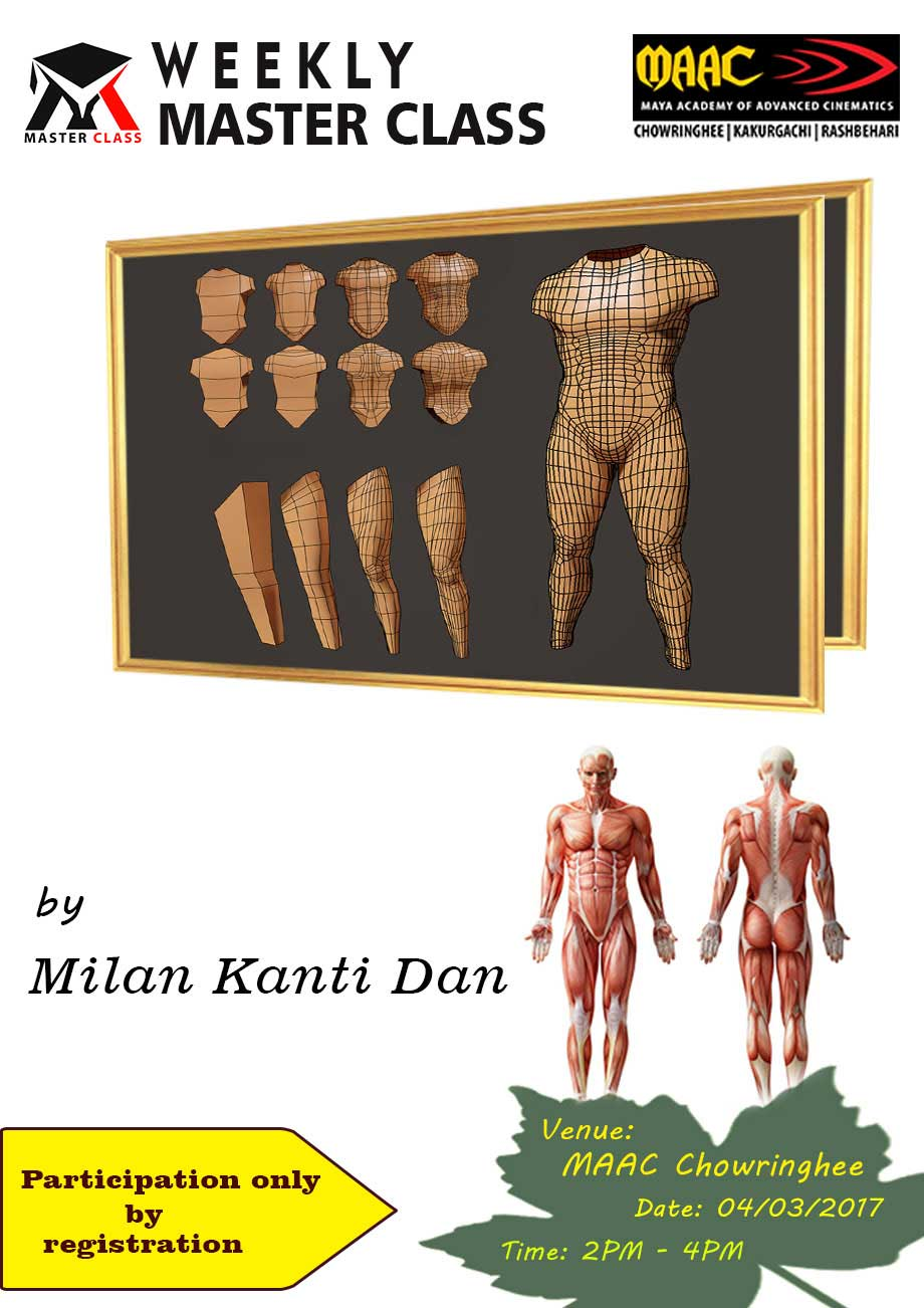 Weekly Master Class on Character Modeling Day-2 - Milan Kanti Dan