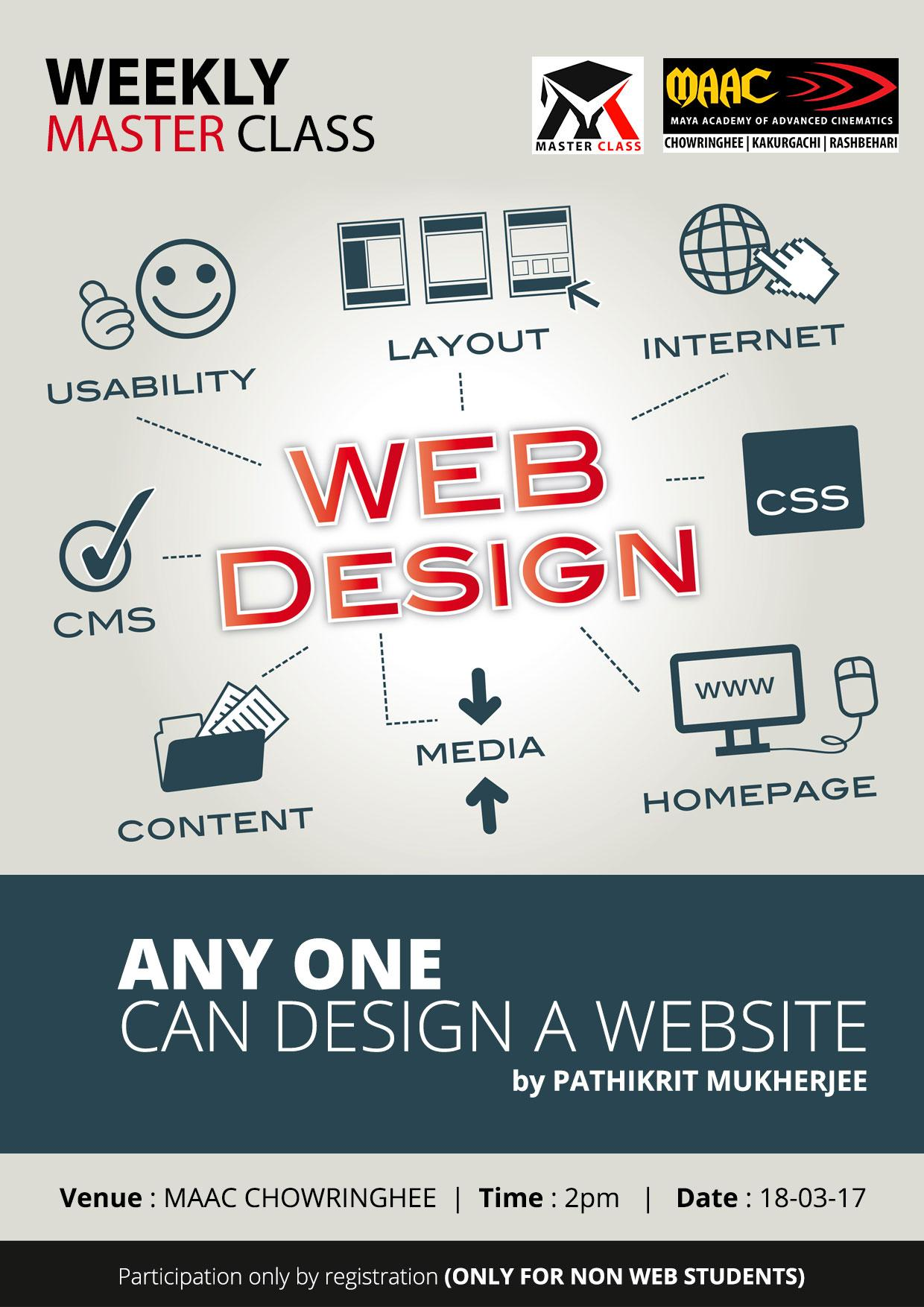 Weekly Master Class on ANY ONE �CAN DESIGN WEBSITE - Pathikrit Mukherjee