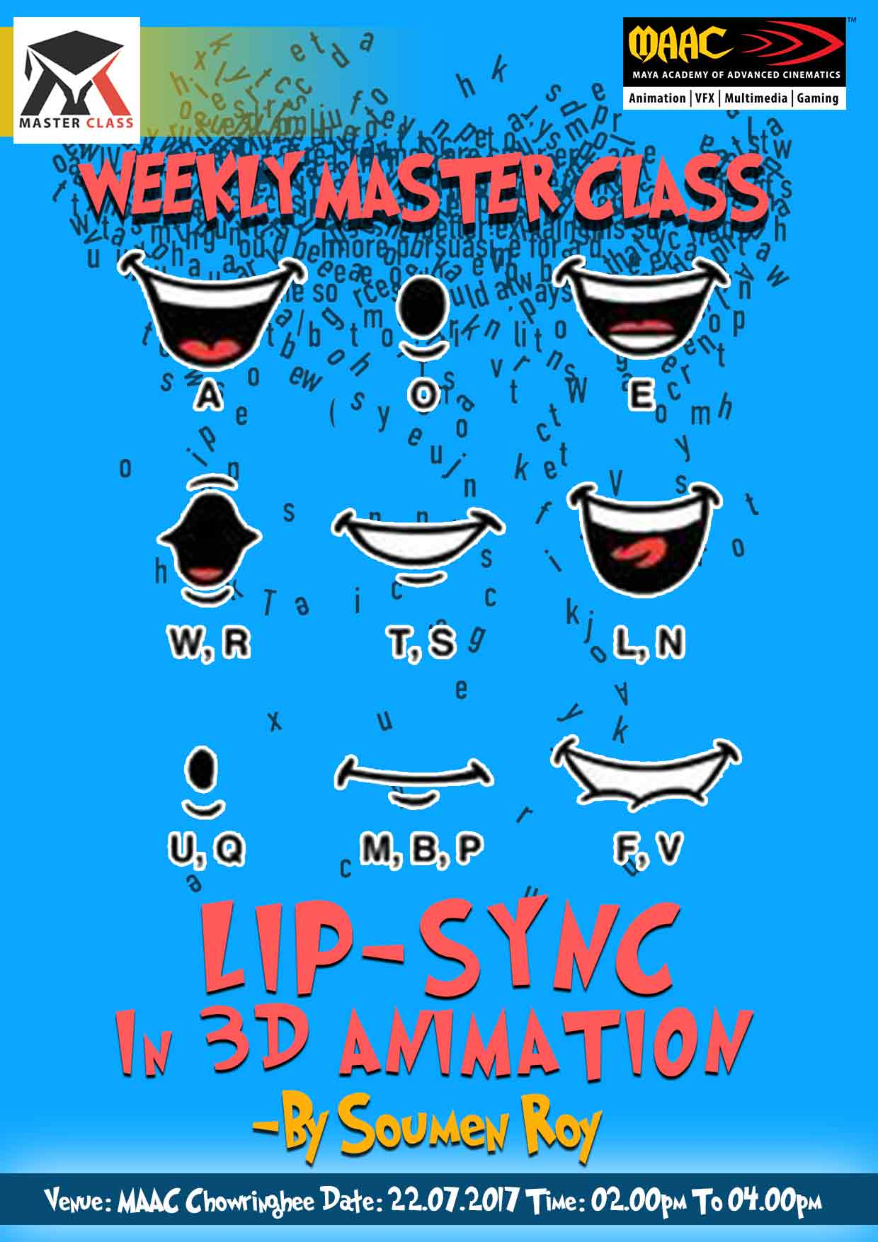 Weekly Master Class on Lip-Sync in 3D Animation - Soumen Roy