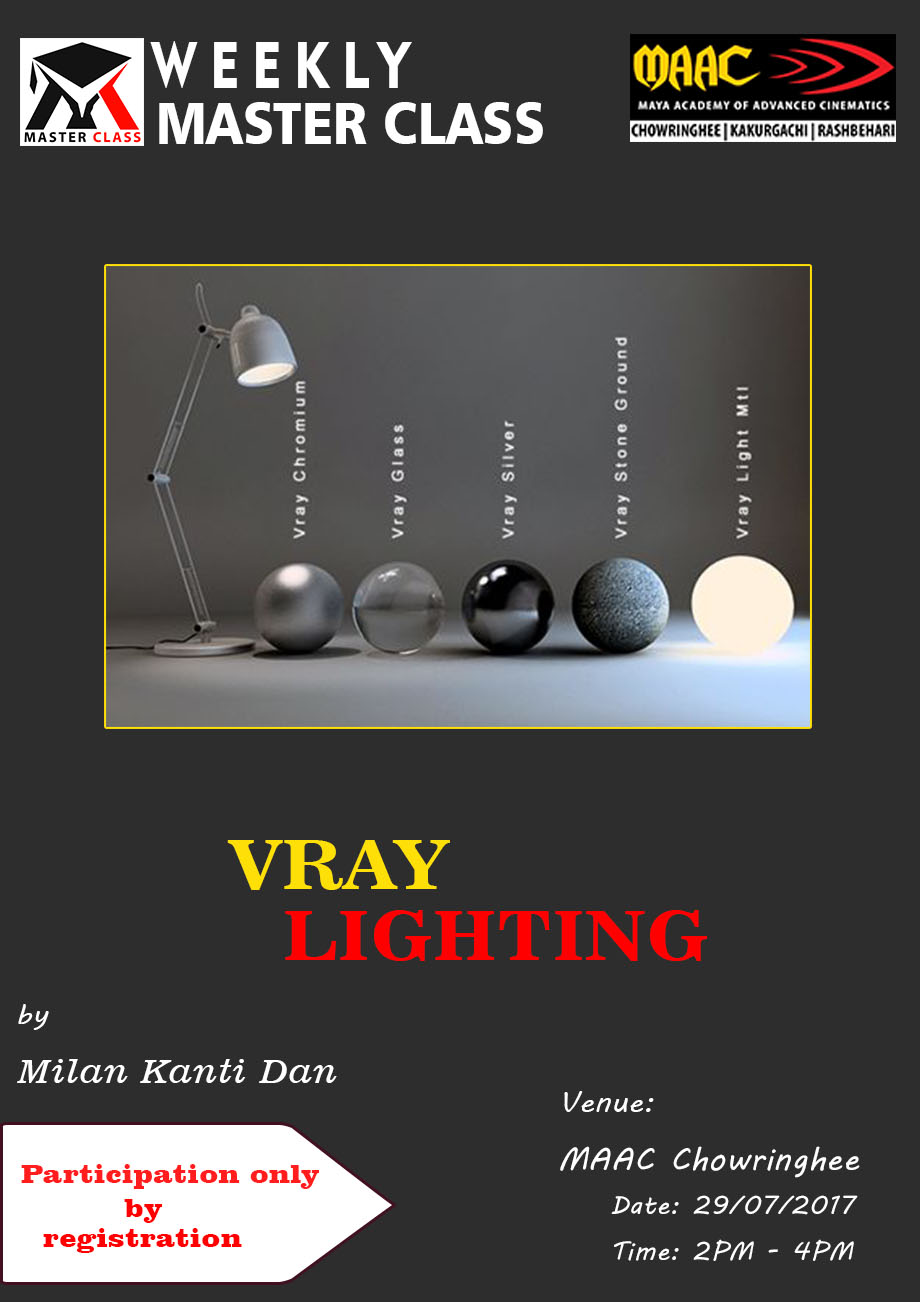 Weekly Master Class on V Ray Lighting - Milan Kanti Dan