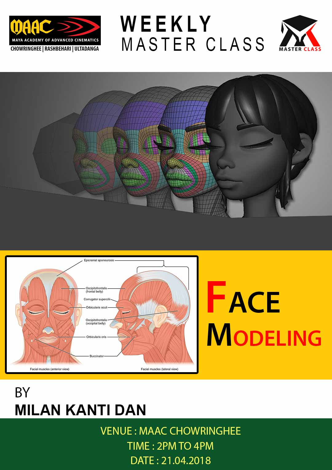 Weekly Master Class on Face Modeling
