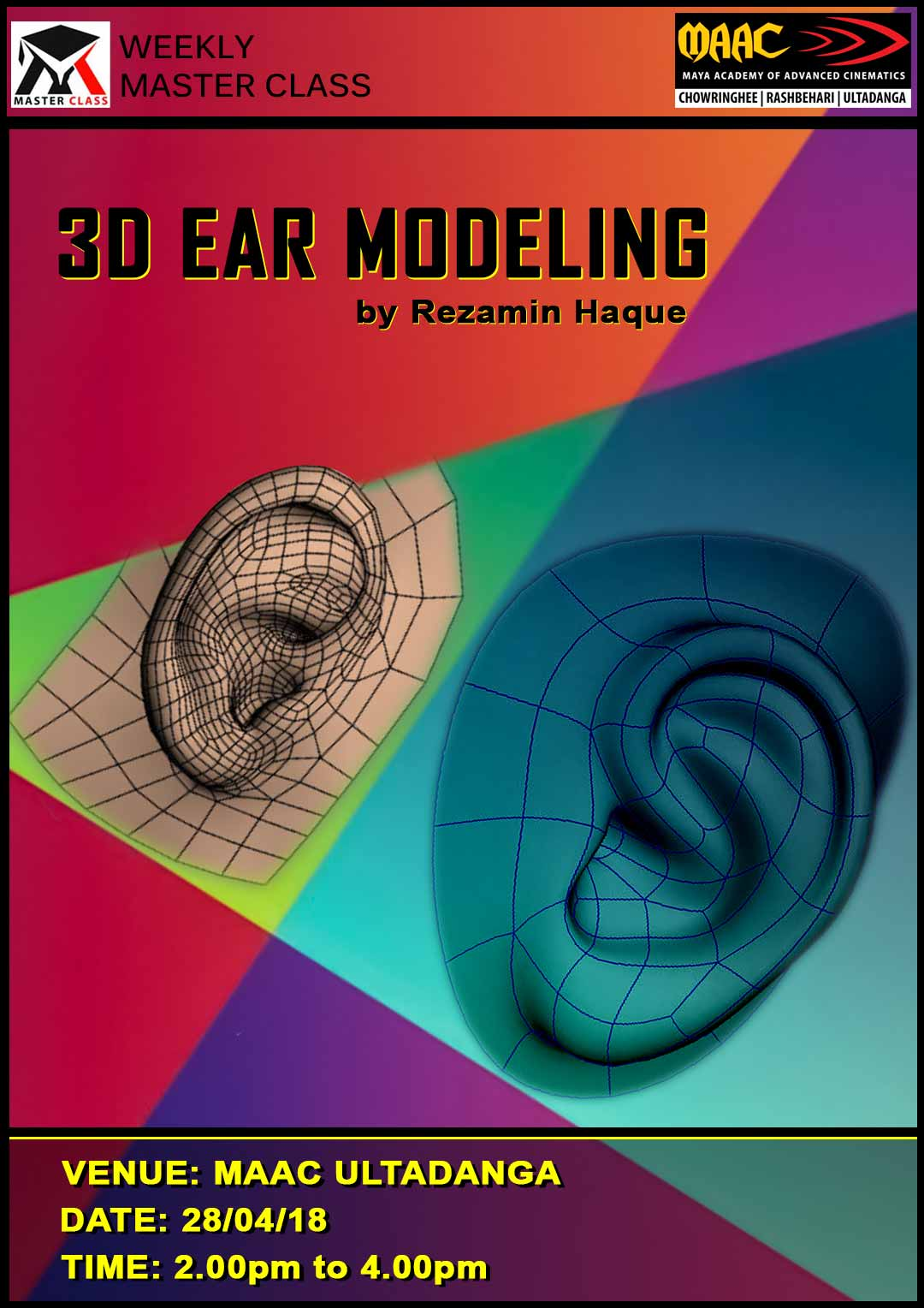 Weekly Master Class on 3D Ear Modeling