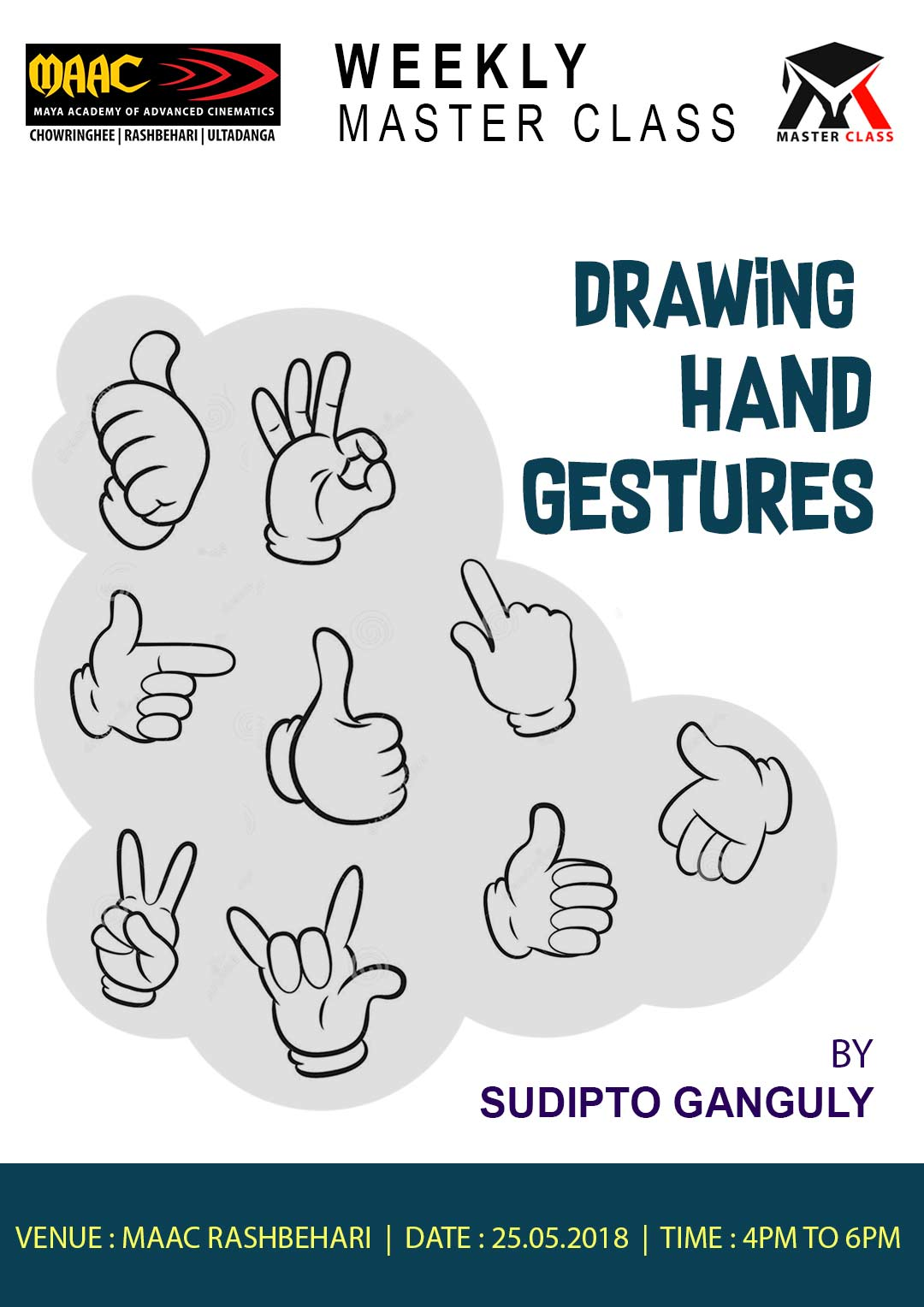 Weekly Master Class on Drawing Hand Gestures