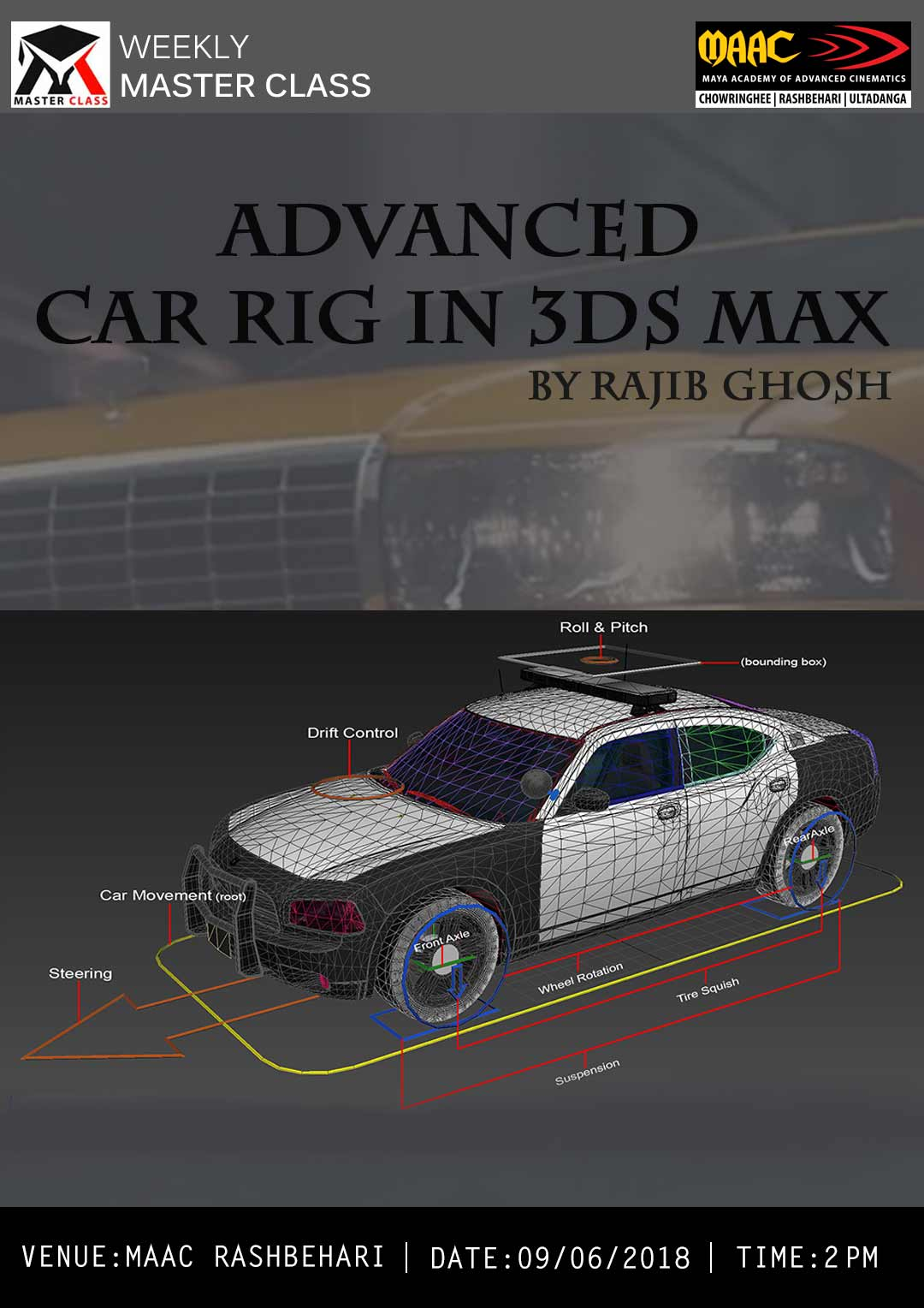 Weekly Master Class on Advanced Car Rig in 3DS Max