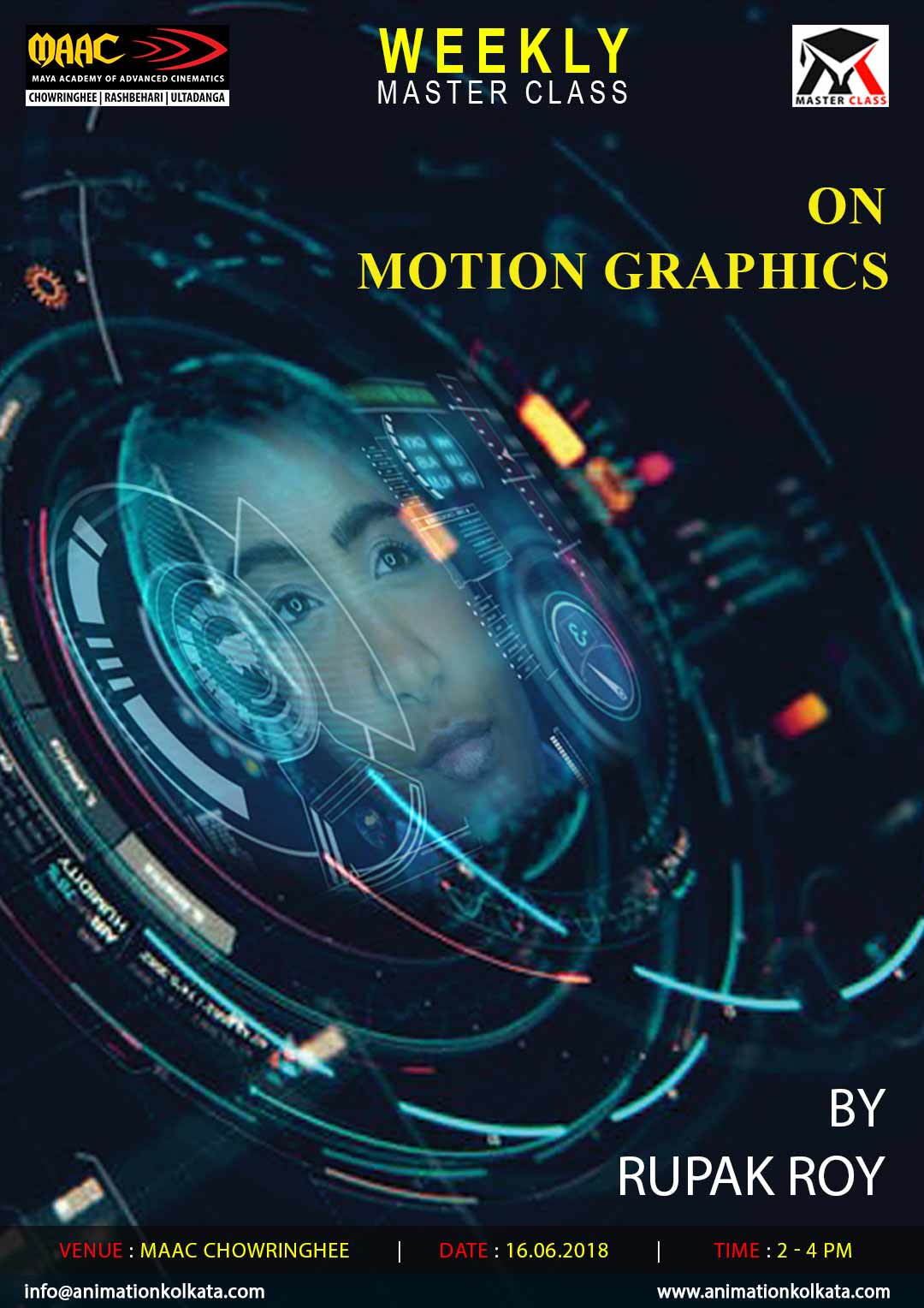 Weekly Master Class on Motion Graphics