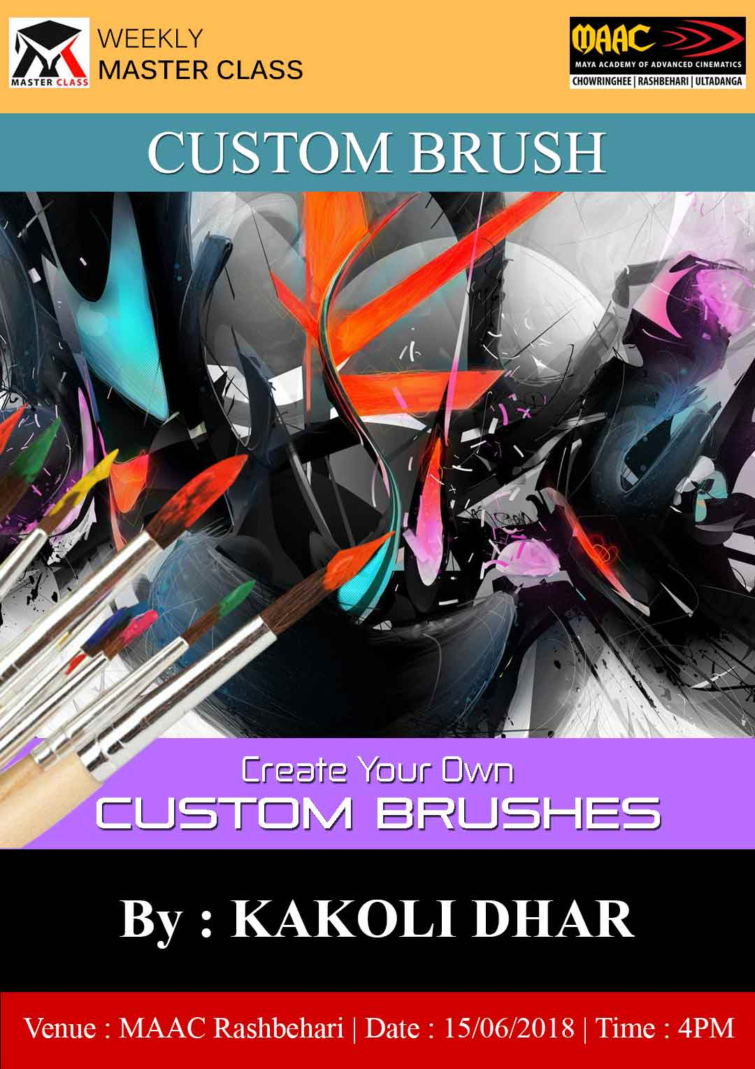 Weekly Master Class on Create Tour Own Custom Brushes