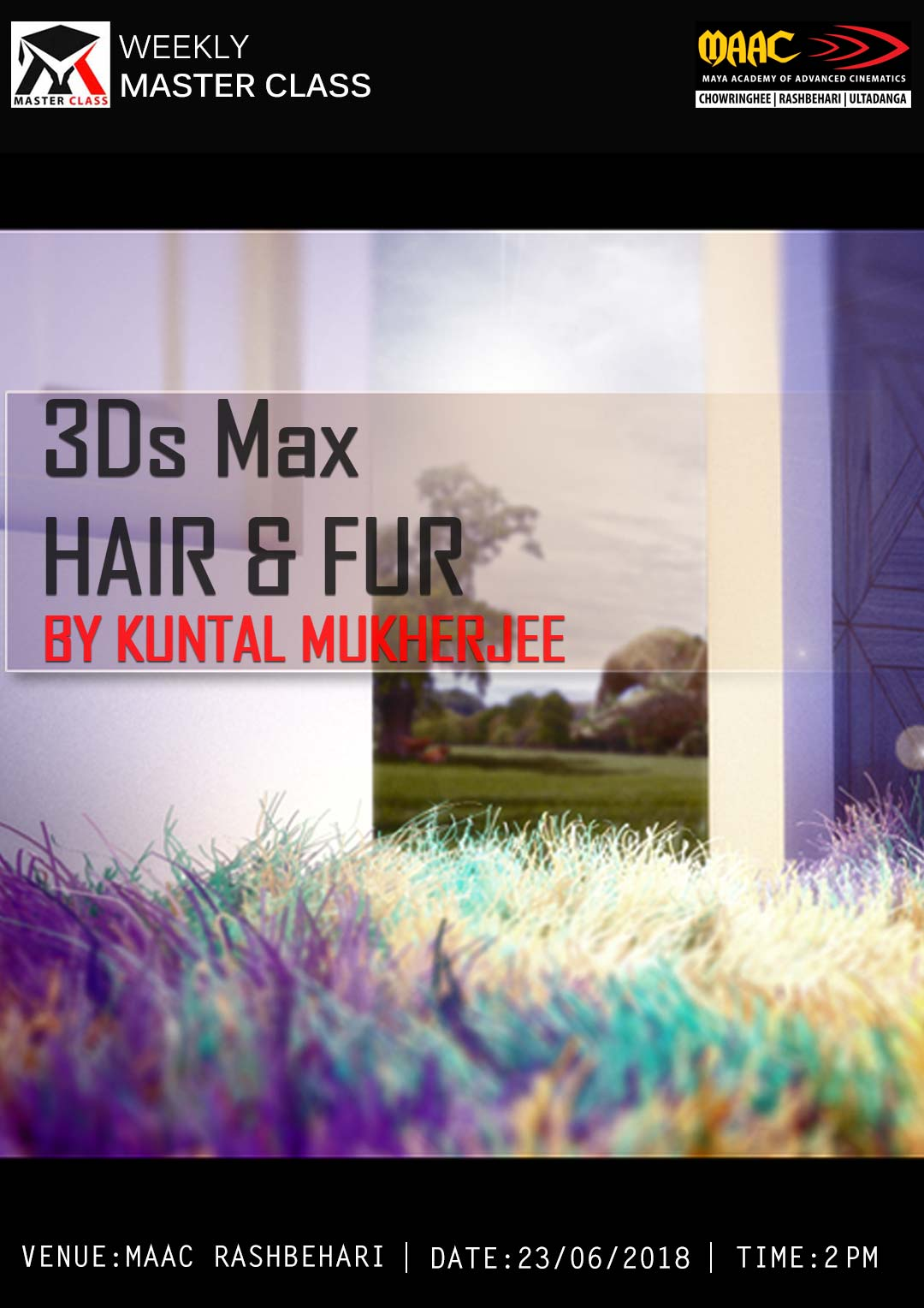 Weekly Master Class on 3ds Max Hair and Fur