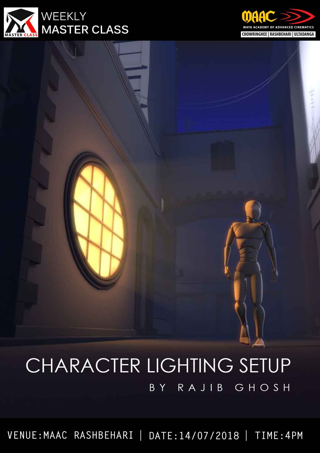 Weekly Master Class on Character Lighting Setup