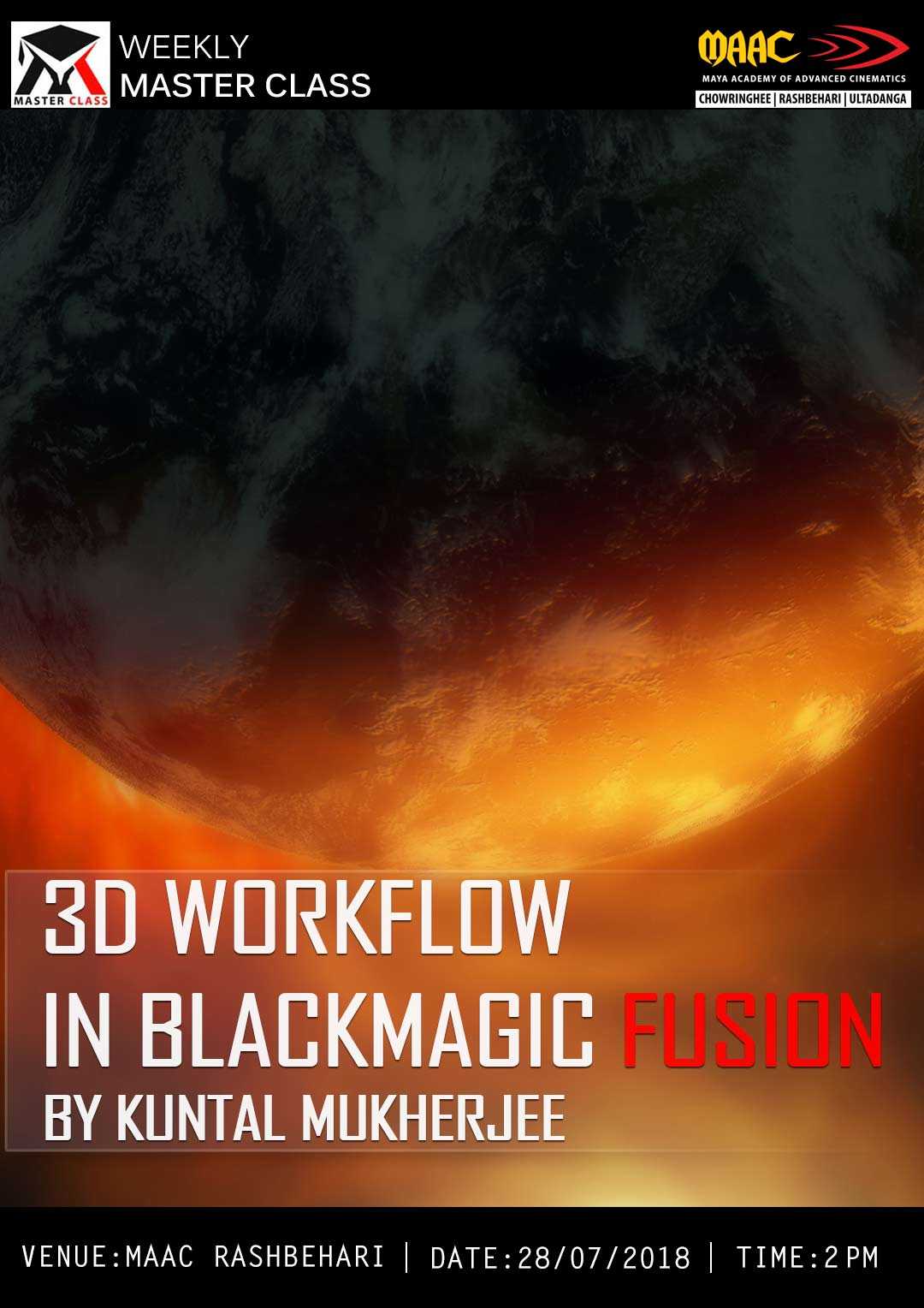 Weekly Master Class on 3D Workflow in Blackmagic Fusion