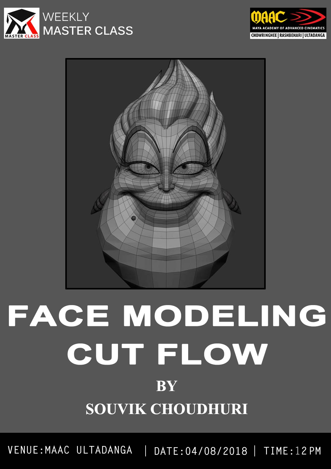 Weekly Master Class on Face Modeling Cut Flow