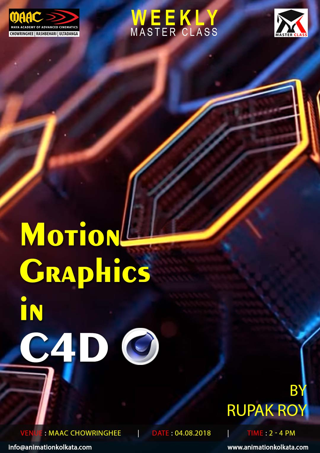 Weekly Master Class on Motion Graphics in C4D