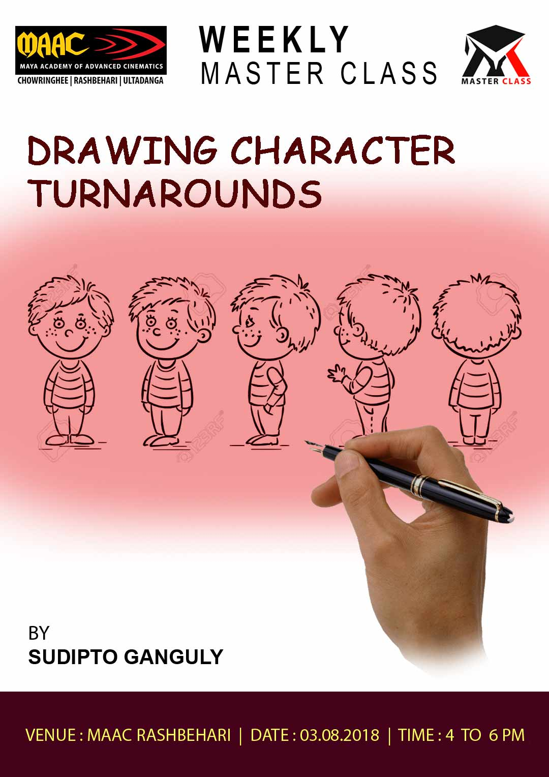 Weekly Master Class on Drawing Character Turnarounds