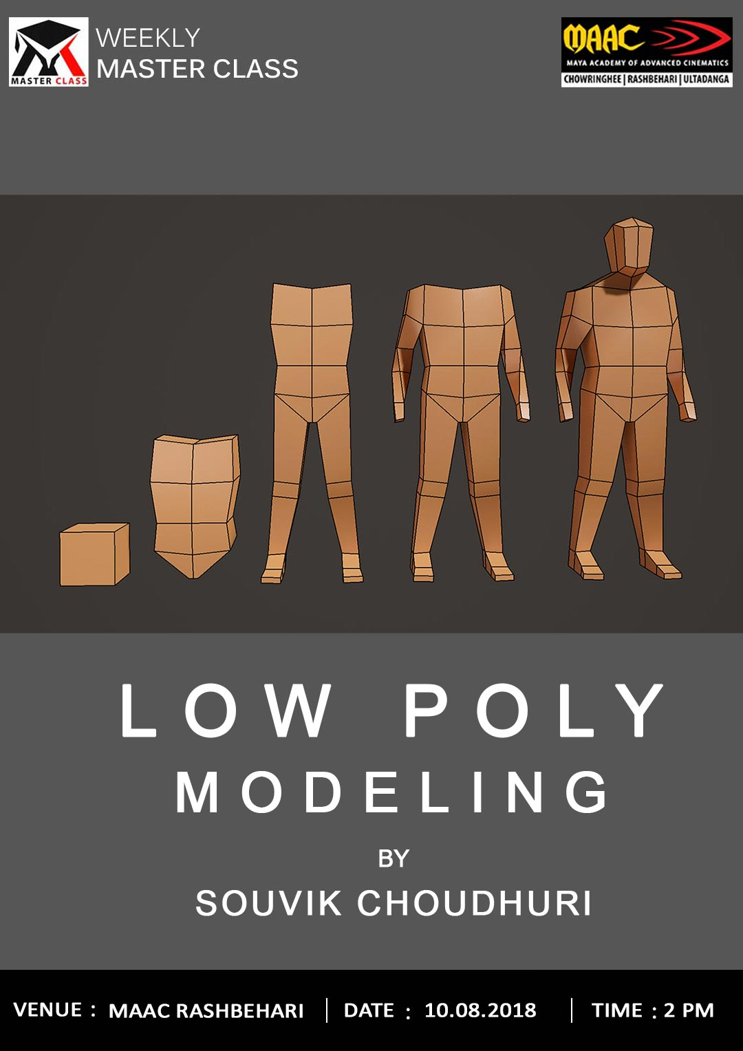 Weekly Master Class on Low Poly Modeling