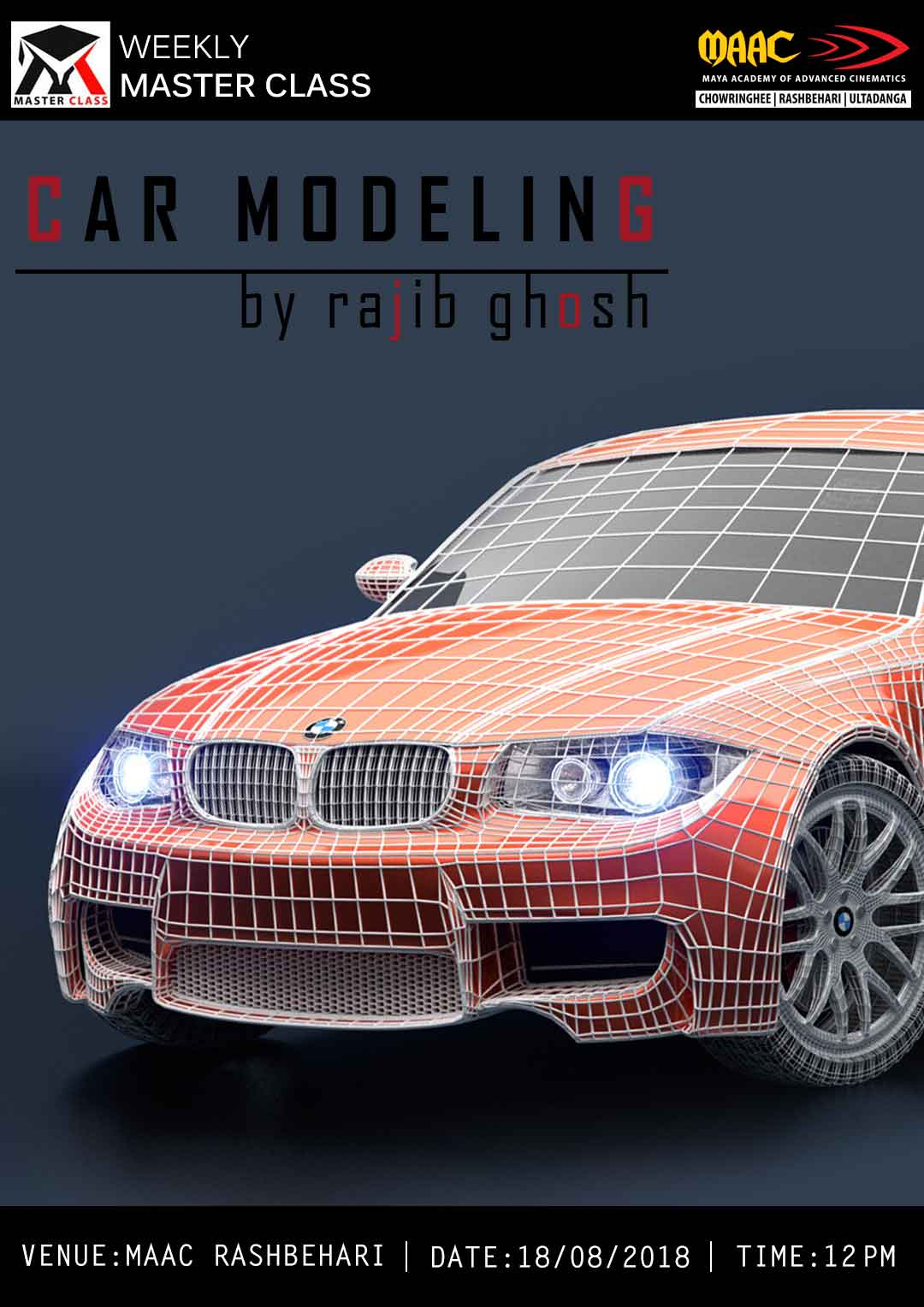 Weekly Master Class on Car Modeling