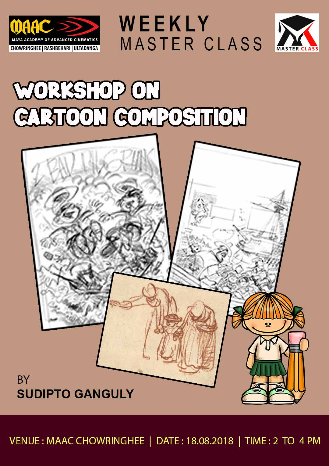 Weekly Master Class on Workshop On Cartoon Composition