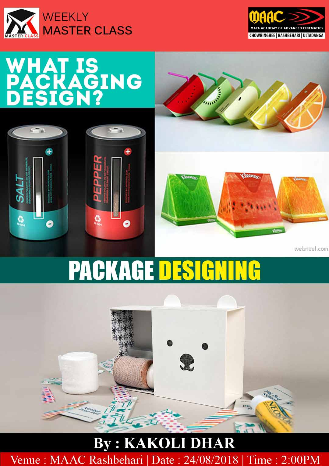 Weekly Master Class on Package Designing