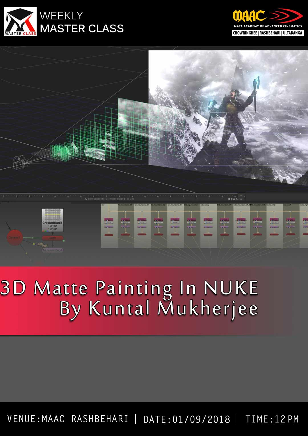 Weekly Master Class on 3D Matte Painting in Nuke