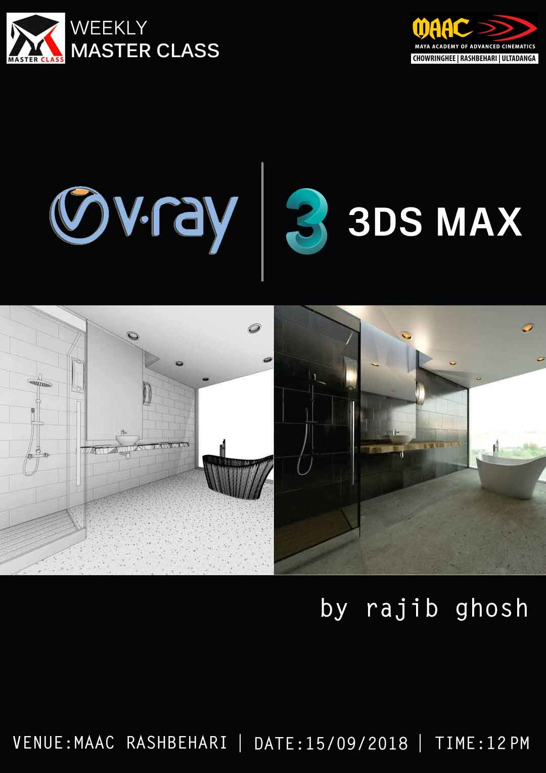 Weekly Master Class on V-Ray