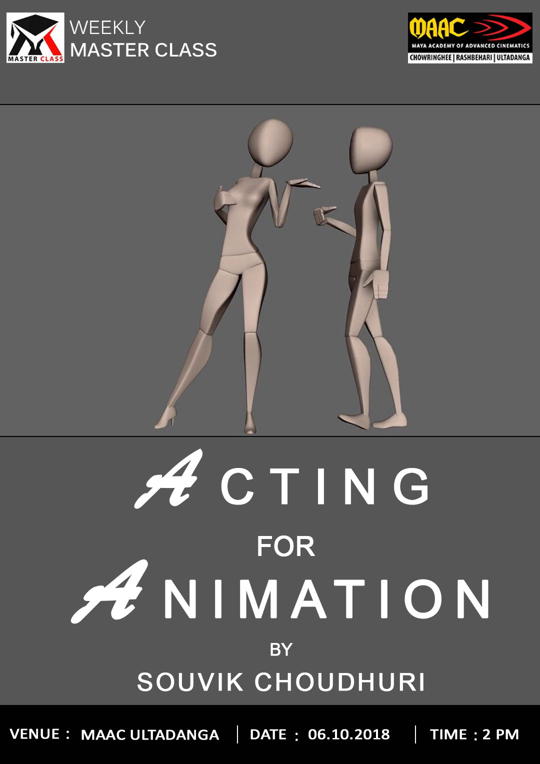 Weekly Master Class on Acting for Animation