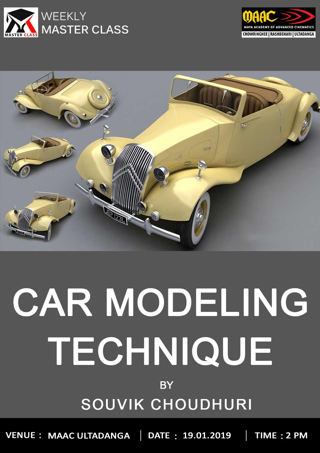 Weekly Master Class on Car Modeling Technique