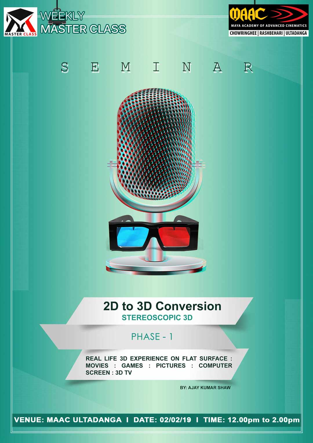 Weekly Master Class on 2D to 3D Conversion Phase 1