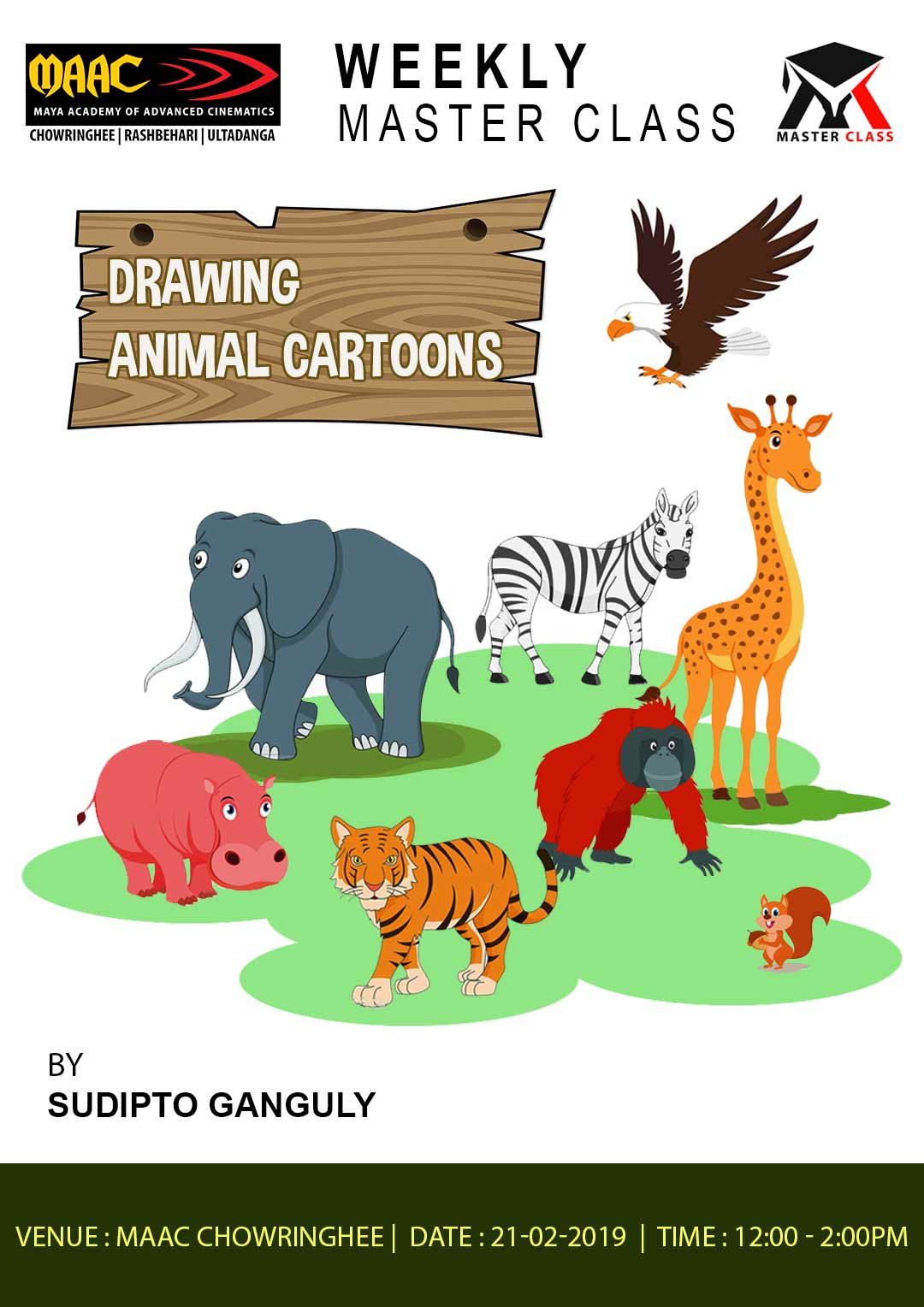 Weekly Master Class on Drawing Animal Cartoon