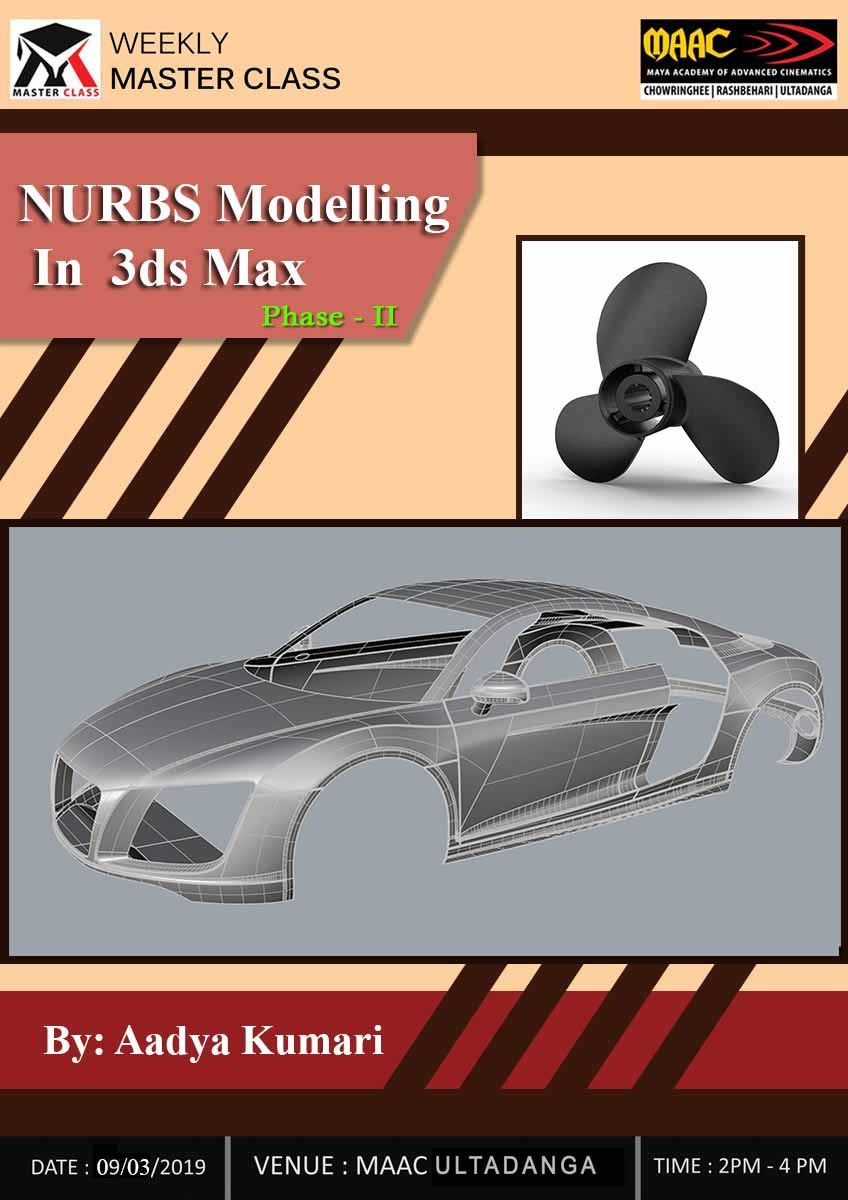 Weekly Master Class on NURBS Modelling in 3Ds Max Phase 2
