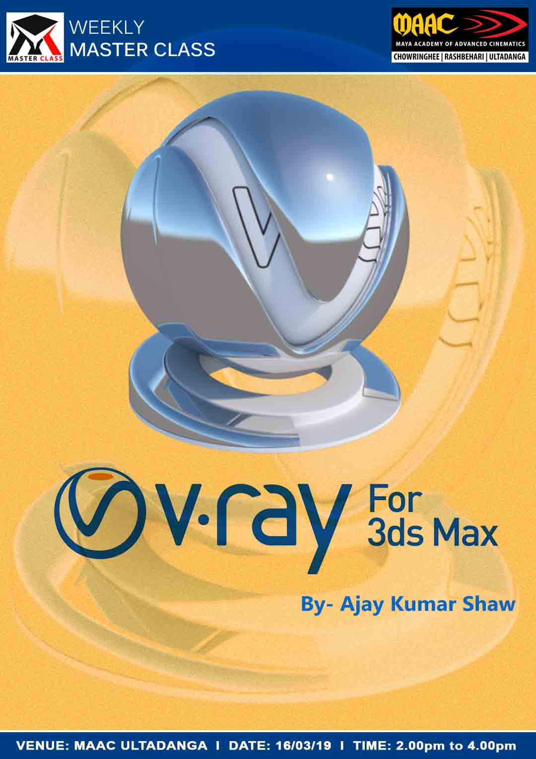 Weekly Master Class on V-Ray for 3ds Max