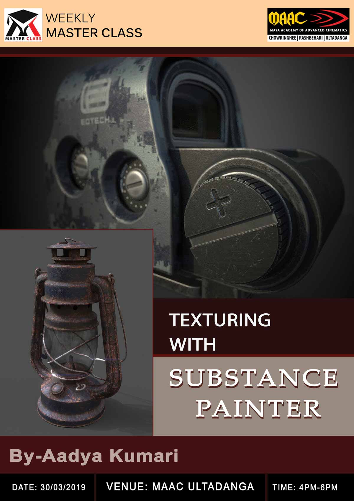 Weekly Master Class on Texturing with Substance Painter