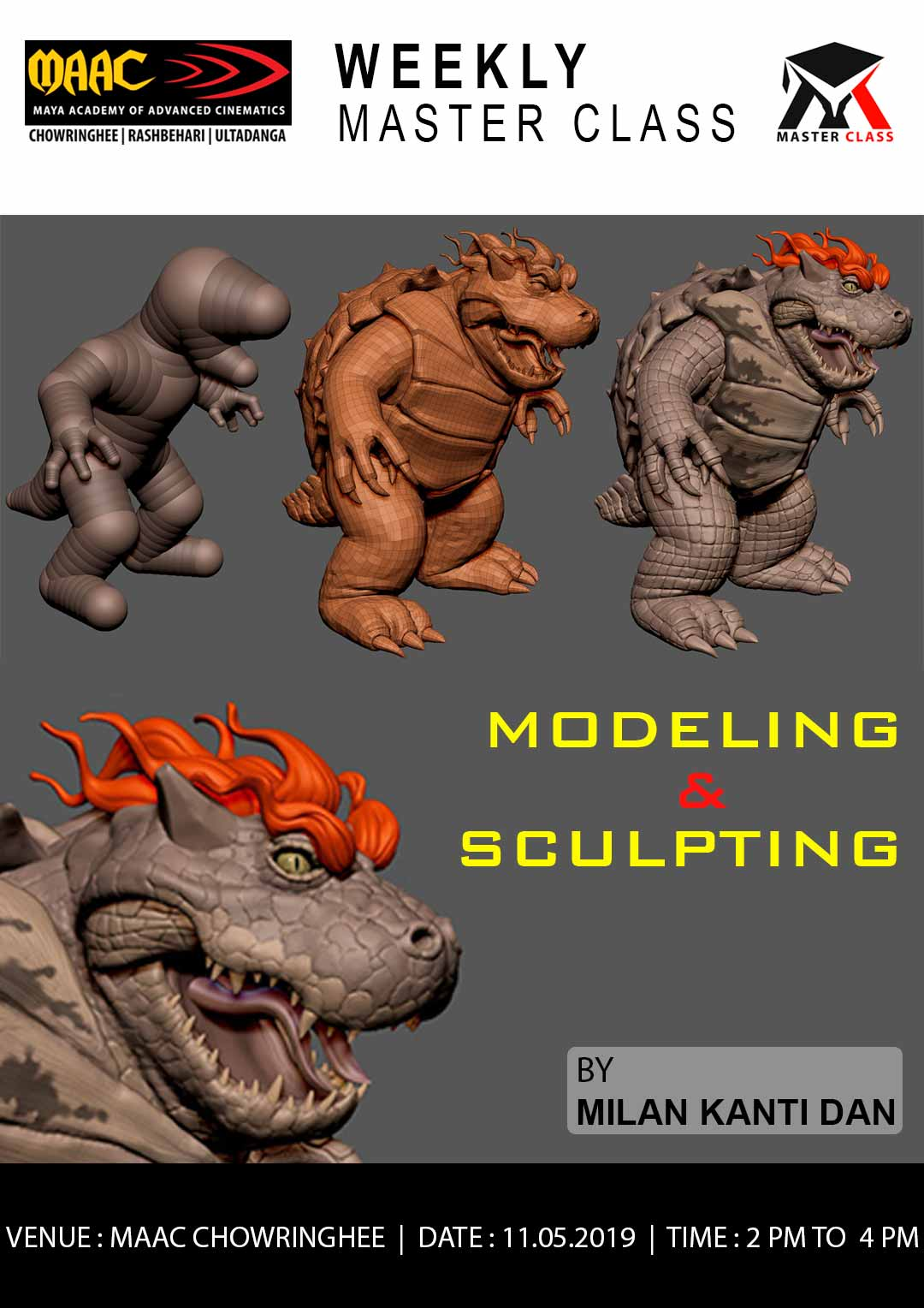 Weekly Master Class on Modeling & Sculpting