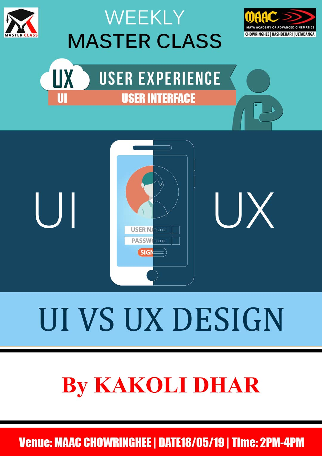 Weekly Master Class on UI UX User Experience