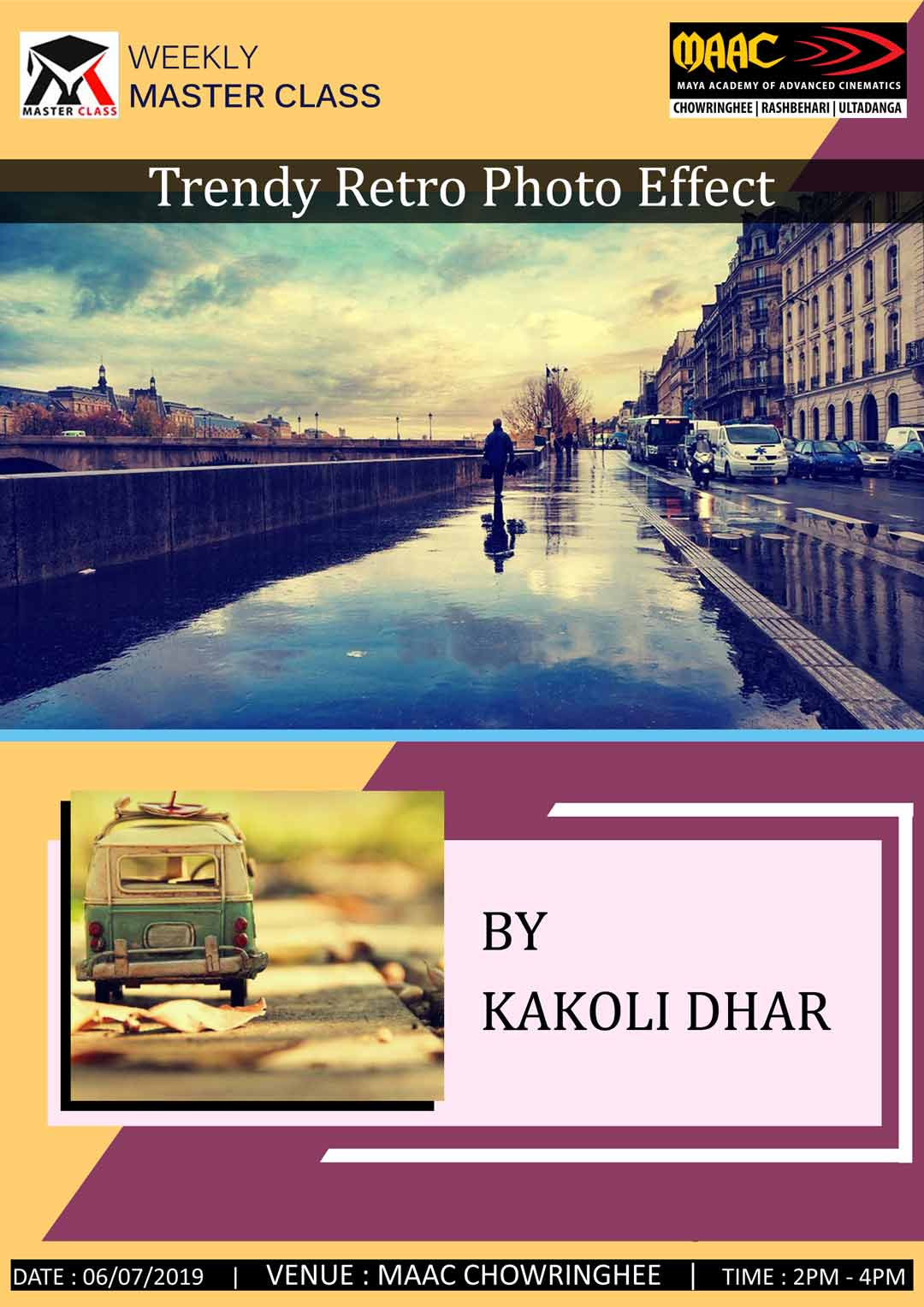 Weekly Master Class on Trendy Retro Photo Effect