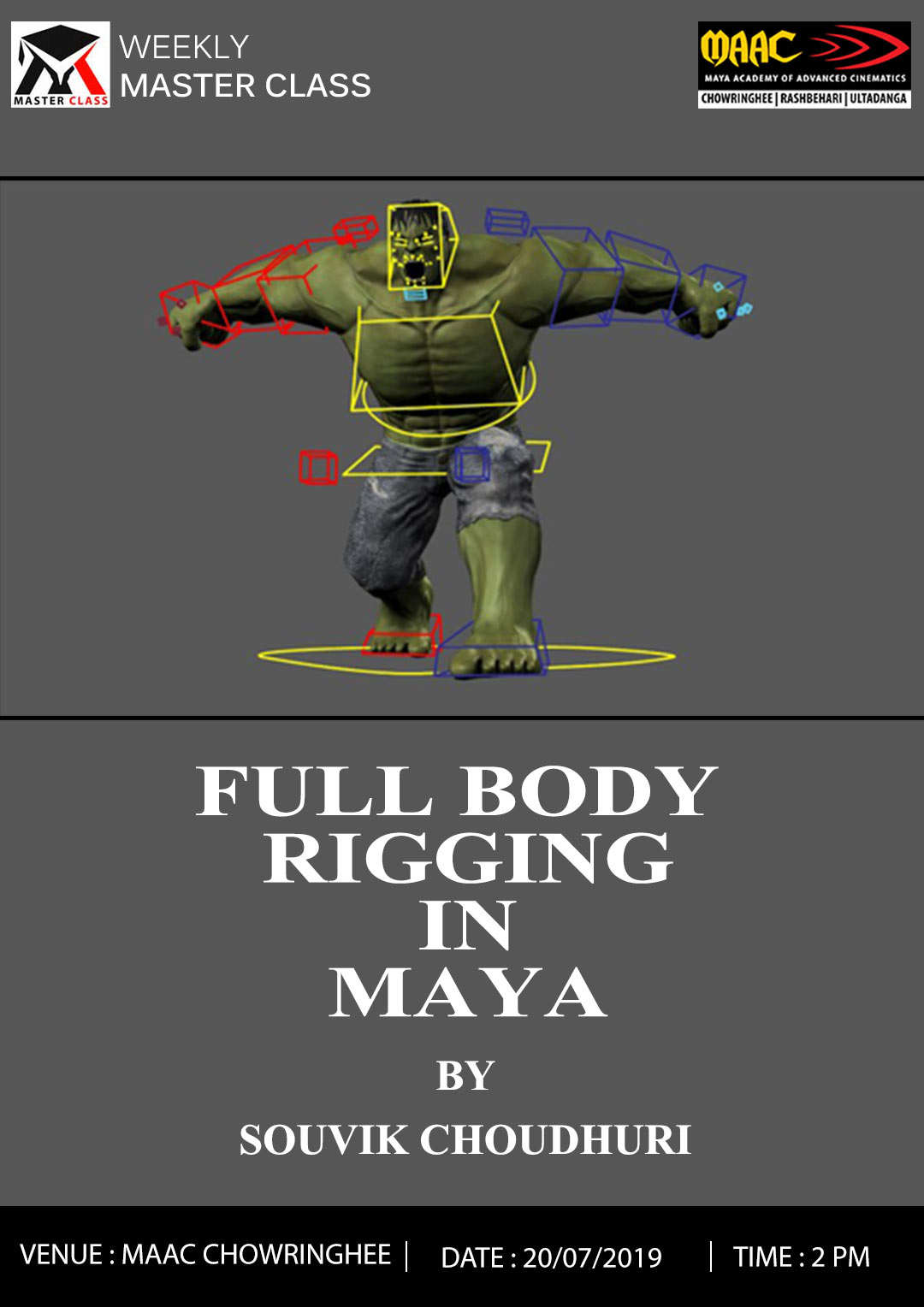 Weekly Master Class on Full Body Rigging in MAYA