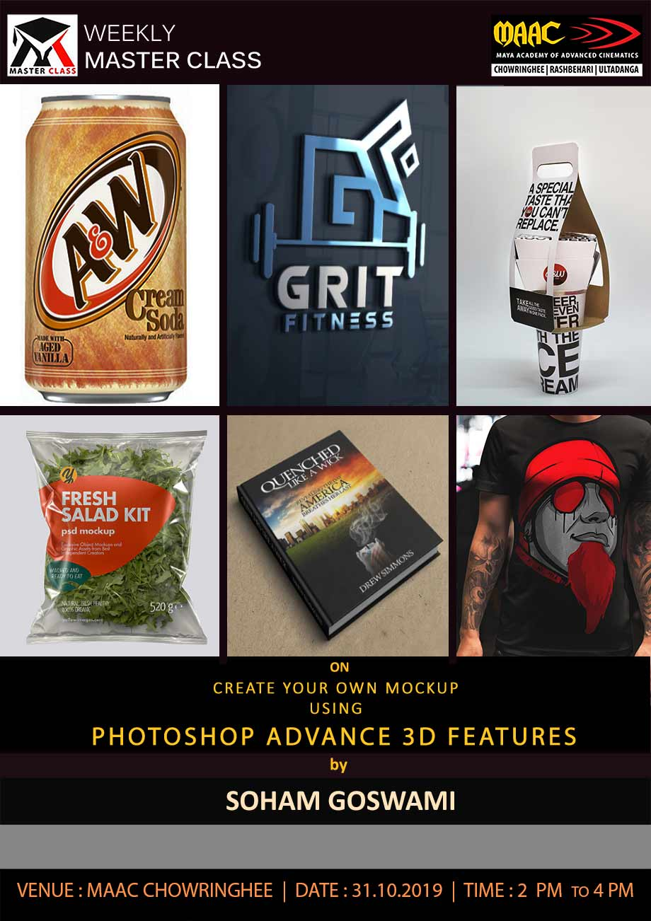 Weekly Master Class on Create Your Own Mockup in Photoshop