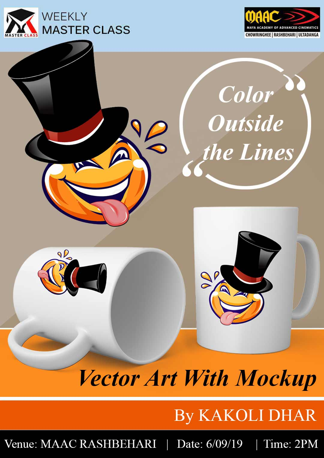 Weekly Master Class on Vector Art with Mockup