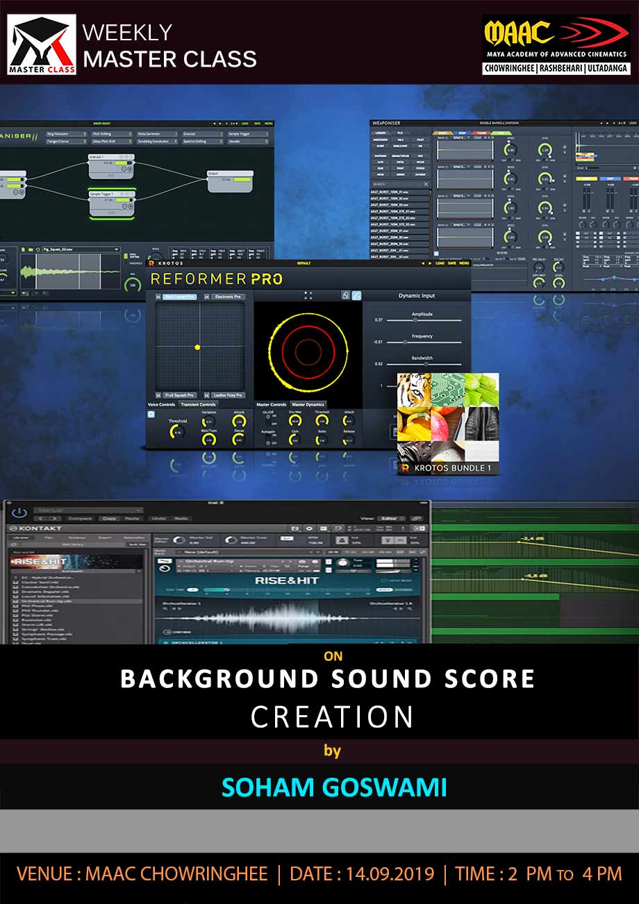 Weekly Master Class on Background Sound Score Creation