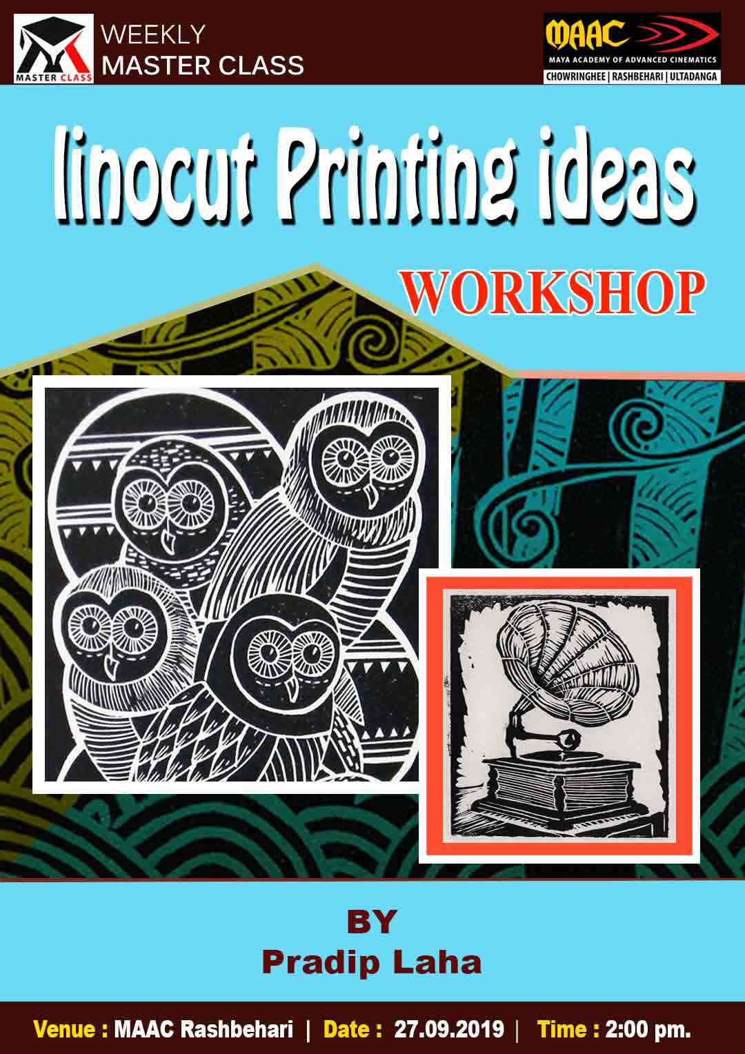 Weekly Master Class on Lino Printing Ideas