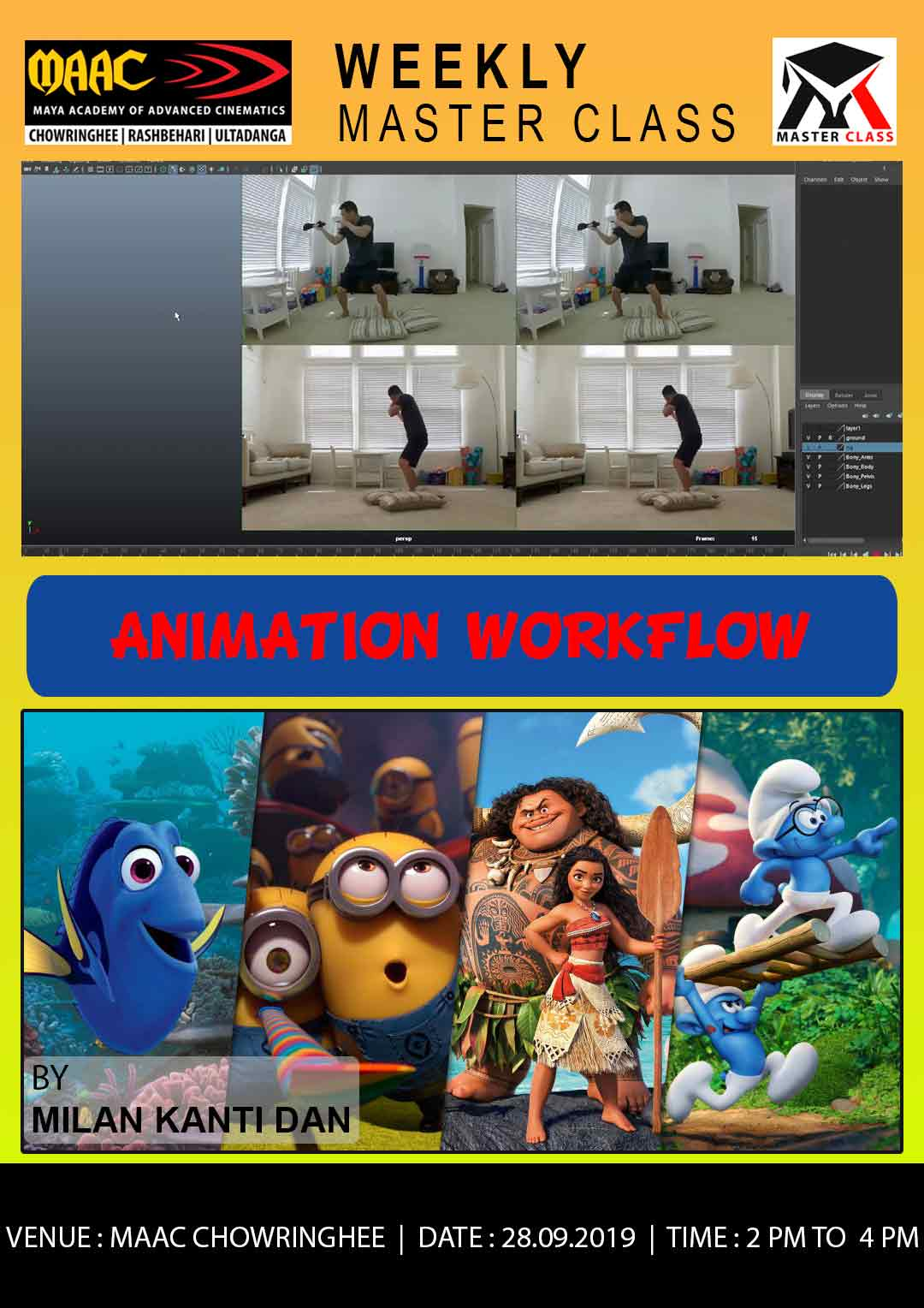 Weekly Master Class on Animation Workflow