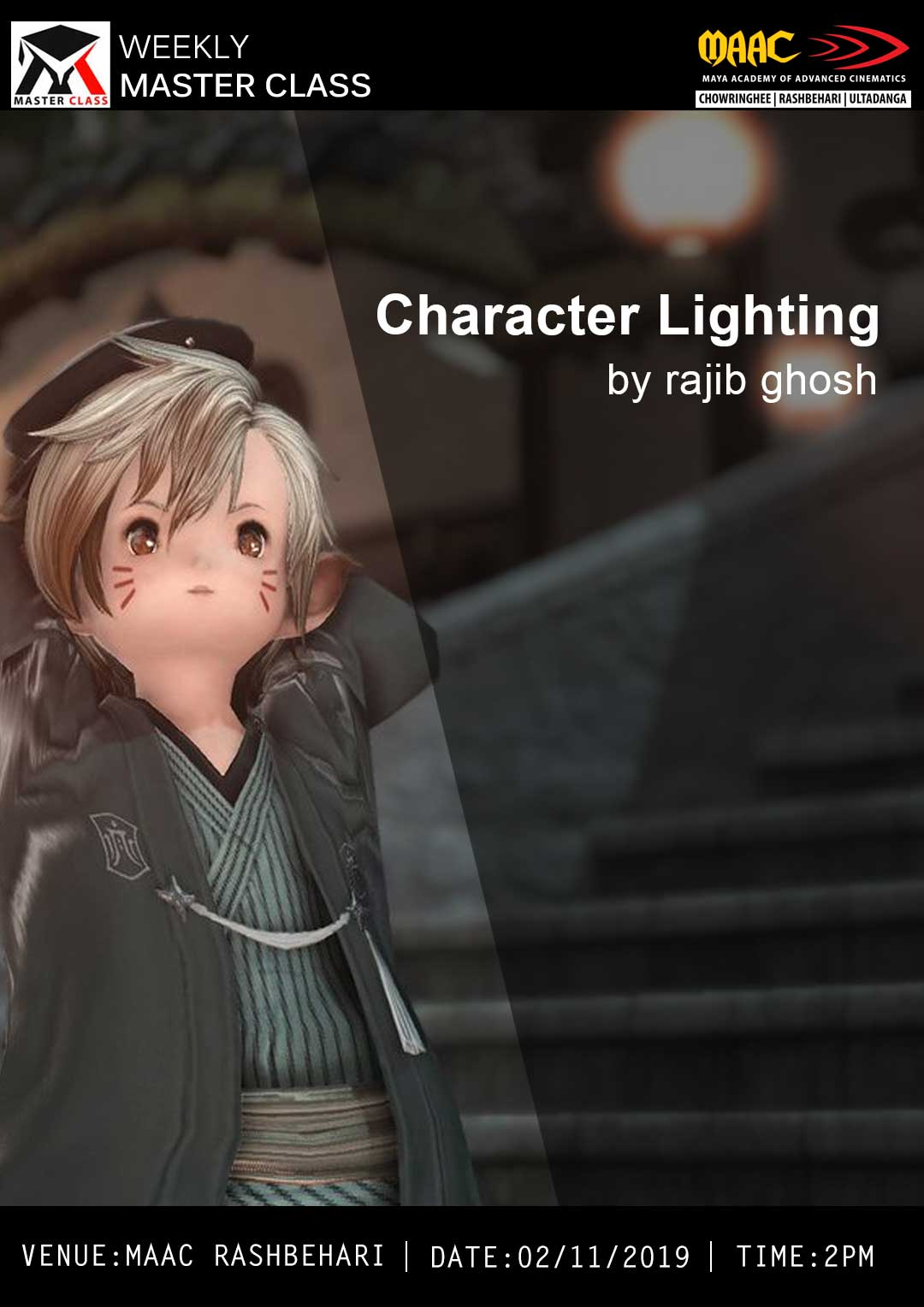 Weekly Master Class on Character Lighting