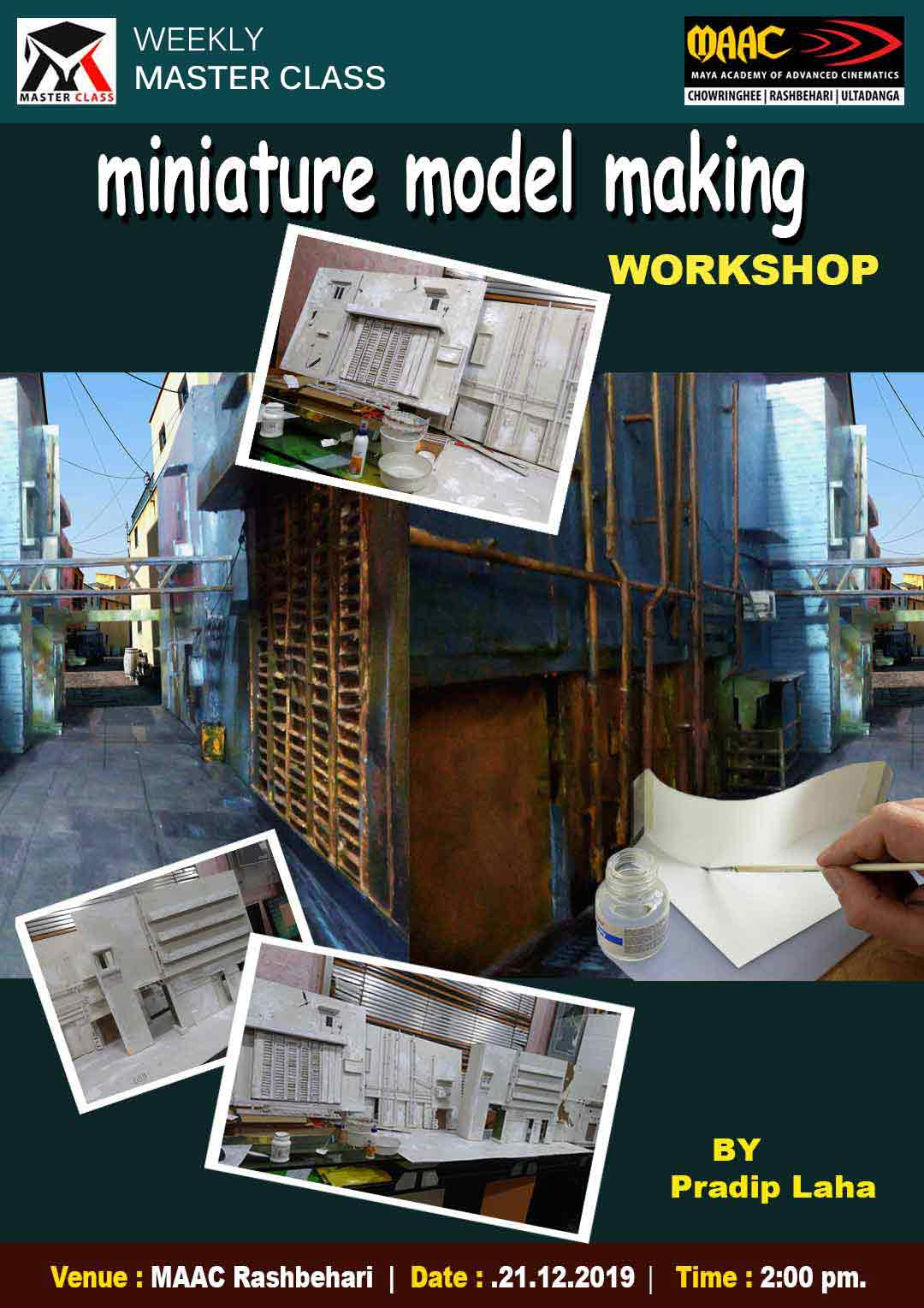 Weekly Master Class on Miniature Model Making Workshop