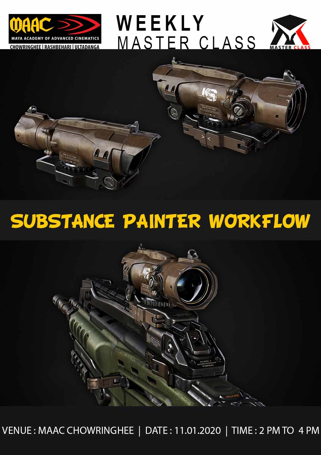 Weekly Master Class on Substance Painter Workflow