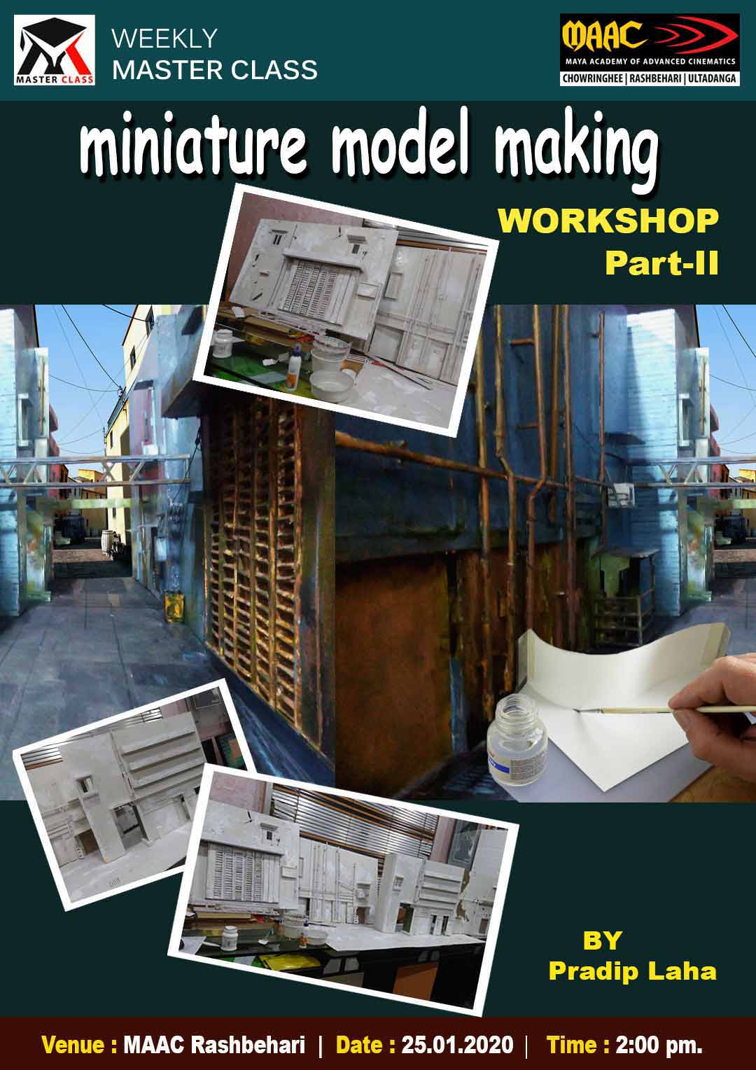 Weekly Master Class on Miniature Model Making Workshop Phase 2