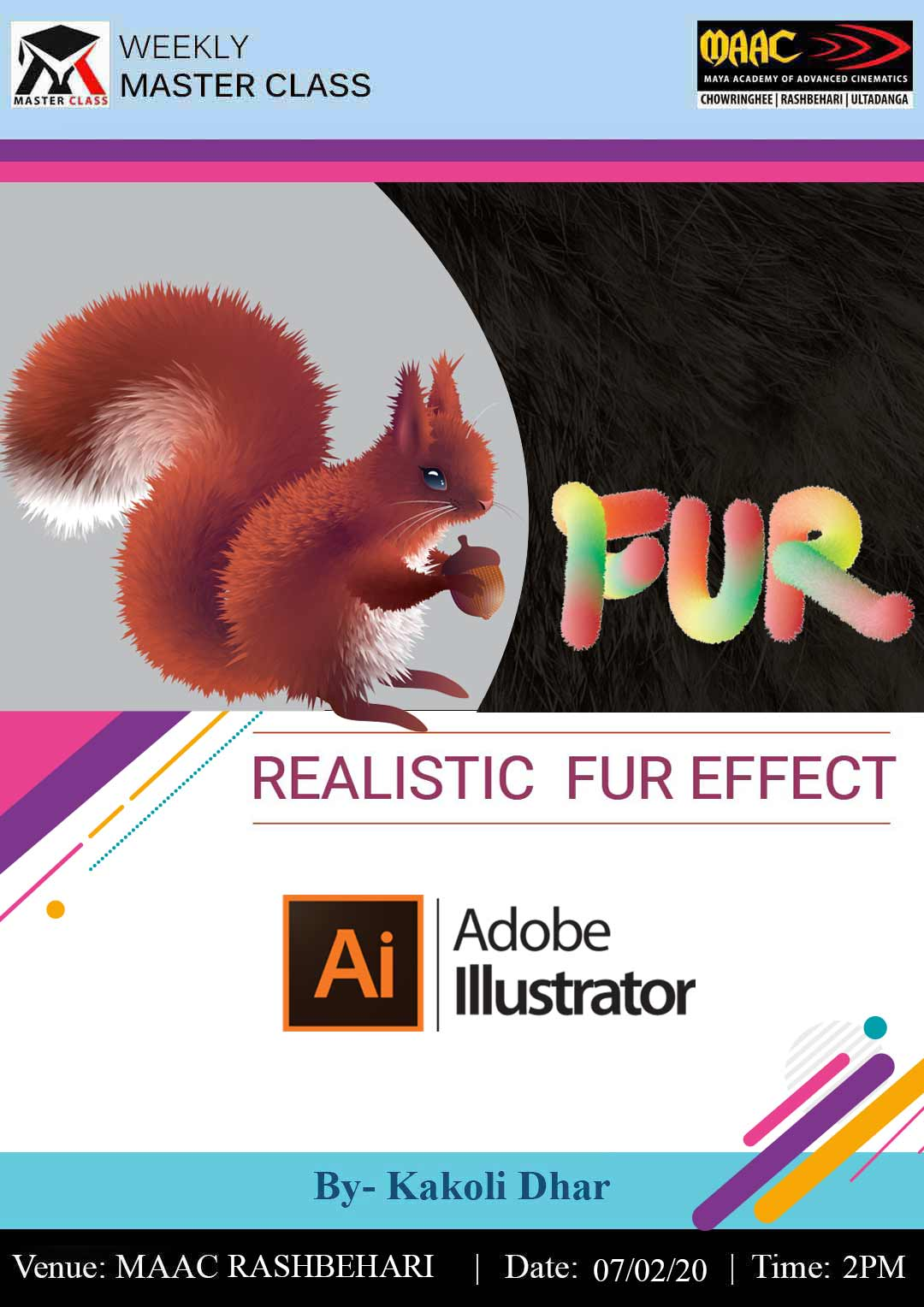 Weekly Master Class on Realistic Fur Effect in Illustrator