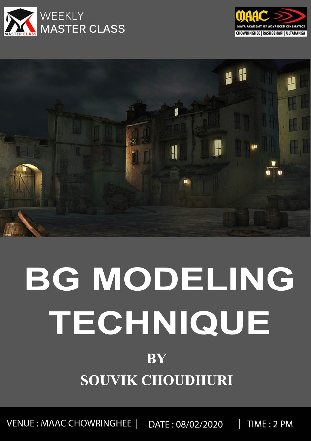 Weekly Master Class on BG Modeling Technique