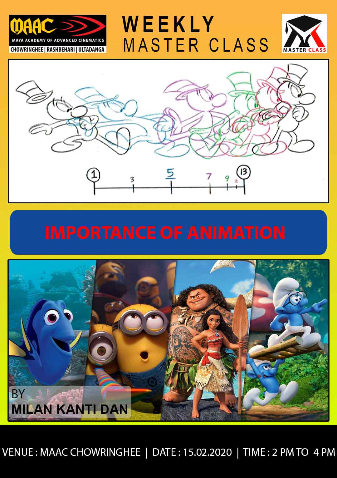 Weekly Master Class on Importance of Animation