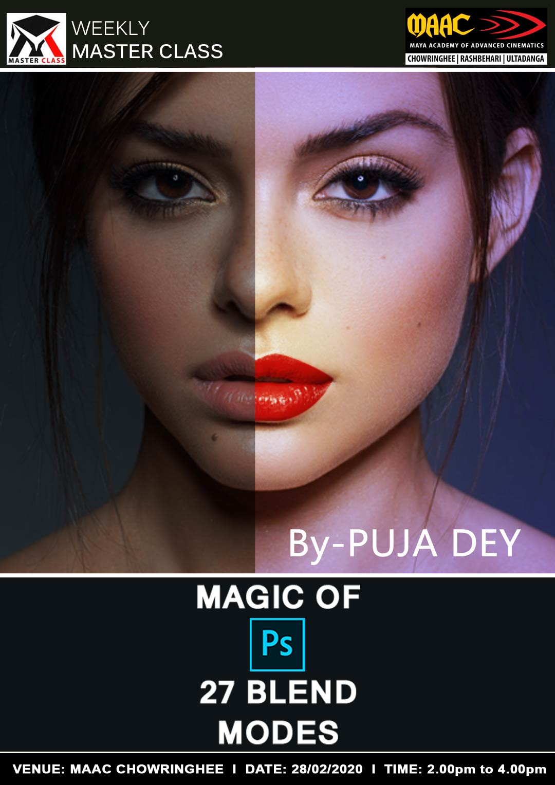 Weekly Master Class on Magic Of Photoshop 27 Blend Modes