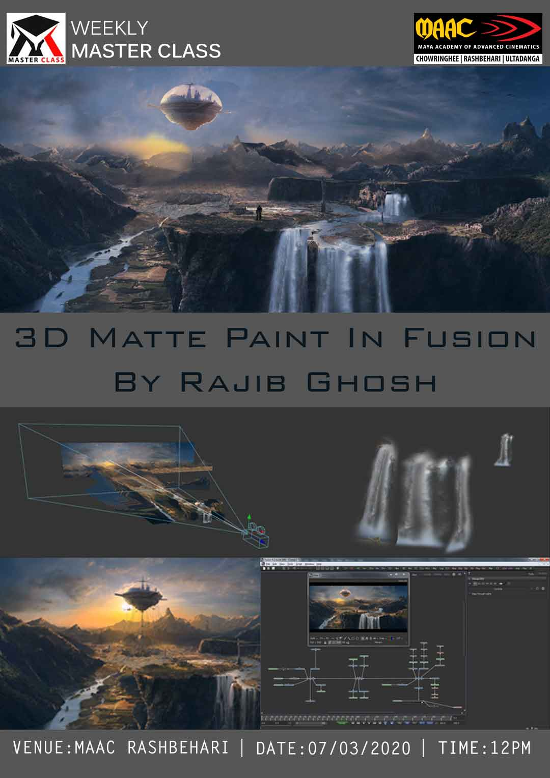 Weekly Master Class on 3D Matte Paint In Fusion